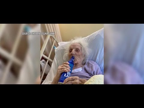 103-year-old woman celebrates COVID-19 recovery with beer