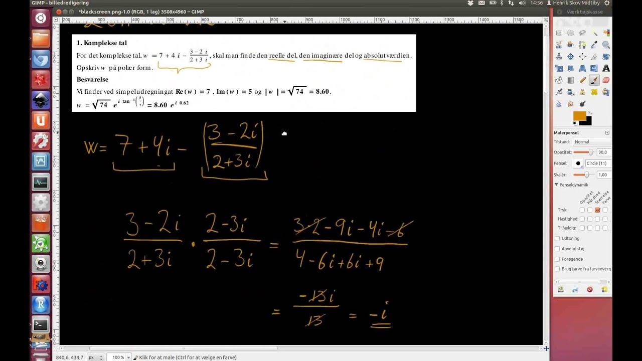 2011-06-22 Opgave 1. Komplekse tal