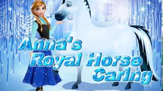Princess Anne cares for his royal horse  Cartoon game