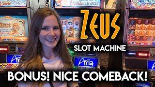Zeus Slot Machine! BONUS!! Nice Comeback!!