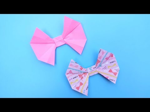 How to make a paper Bow 折紙:蝴蝶結