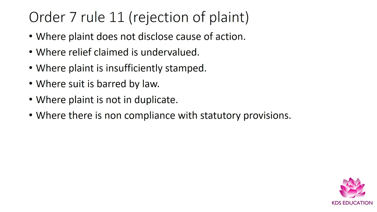 what is plaint in law