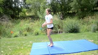 How to do a Back Handspring Stepout