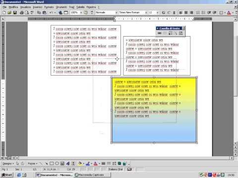 Casella di testo in Word 97_2003