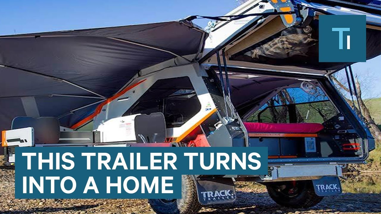 Expandable Trailer Doubles In Size To Become A Tiny Home