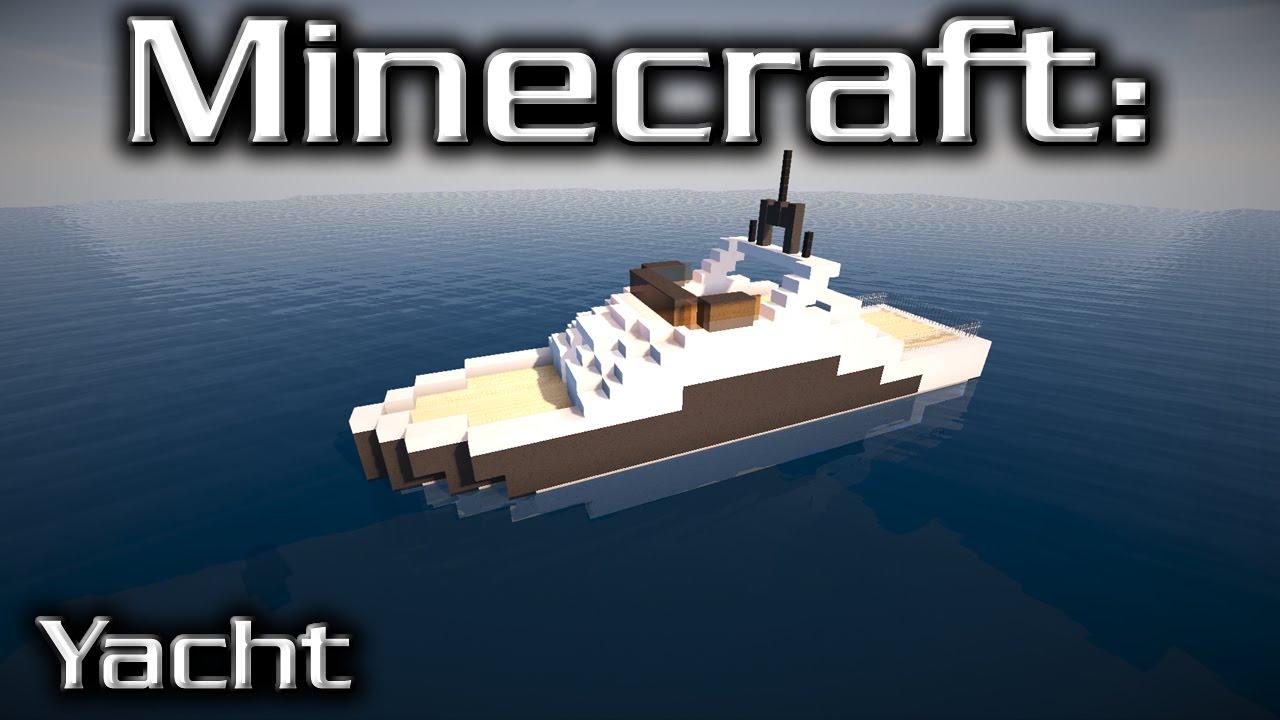 minecraft small yacht tutorial 4 youtube