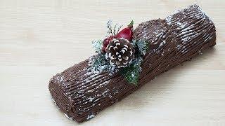 Новогоднее полено - вкусный, новогодний десерт за 30 минут