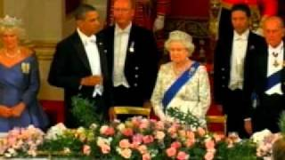 OBAMA'S TOAST TO THE QUEEN GETS MESSED UP, AS WELL AS 'GUEST BOOK'  LINK