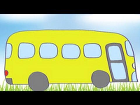 Dibujos De Transportes Para Niños Cómo Dibujar Un Autobús Youtube