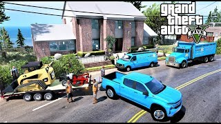 GTA 5 REAL LIFE MOD #88 Brand New House Built By My Construction Company