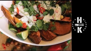 Super Snack - Hazelnut Roasted Sweet Potatoes With Chili & Coriander Yogurt