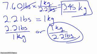 Conversion  pounds to grams