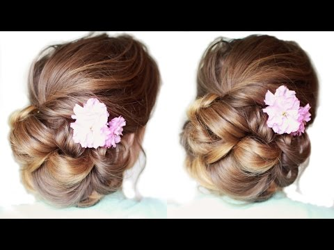 Pretty Updo for Medium / Long Hair | Updo Hairstyles | Braidsandstyles12