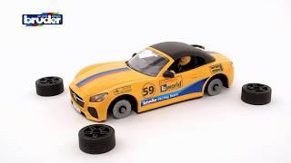 Bentoys.nl - RAM Power Wagen Met Aanhanger En Roadster Racewagen - 02504