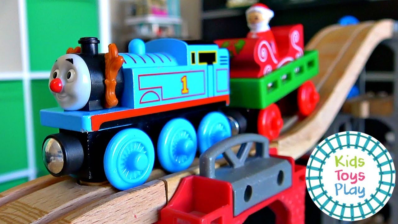 Thomas the Tank Engine Mystery Wheel Downhill Toy Train Christmas Races