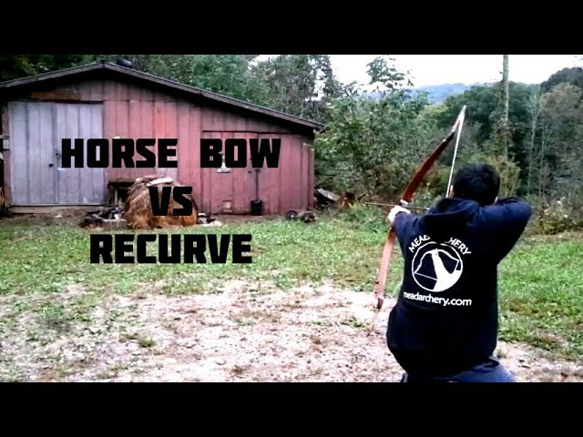 Bamboo Horse Bow vs. Bamboo Recurve Mead Archery Sinew Composite Bow