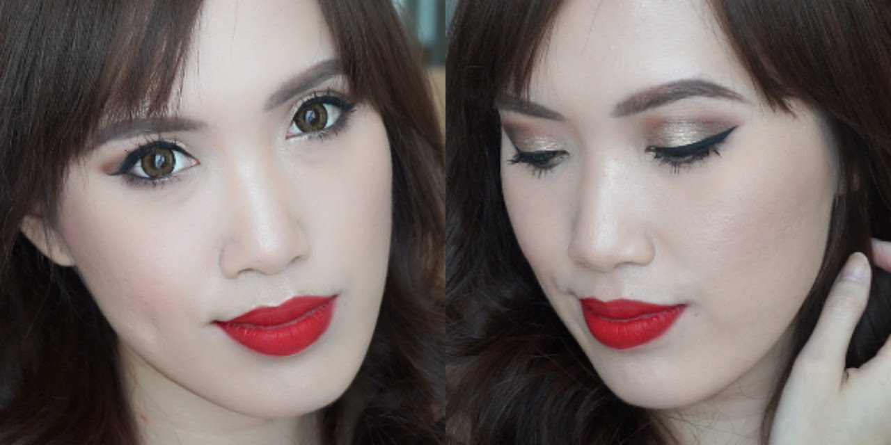 Pics of : Asian Red Lips Makeup Tutorial