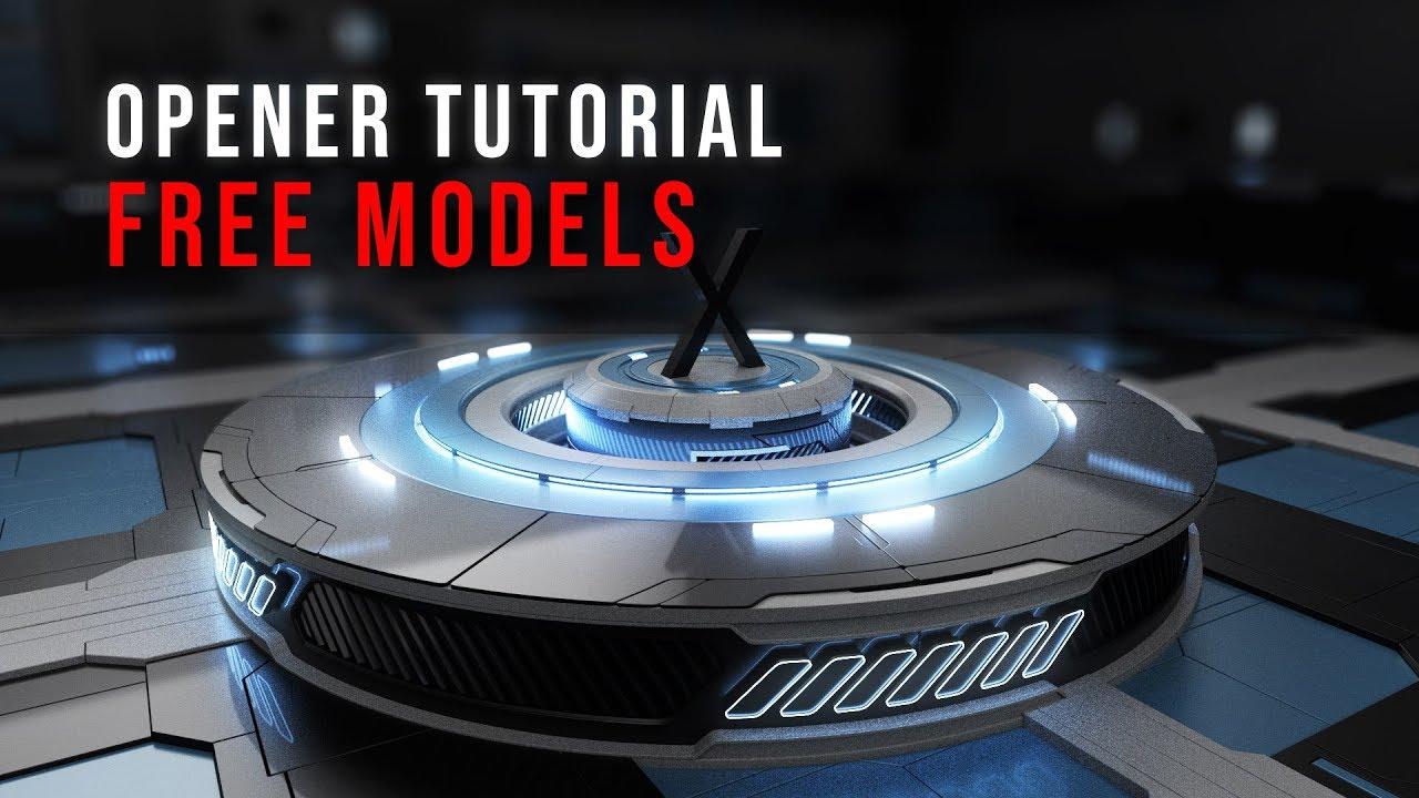 Cinema 4D Opener Tutorial | FREE MODELS | Broadcast Design