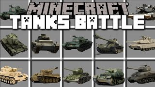 Minecraft TANKS MOD / PROTECT YOUR CITY AND SHOOT DOWN ENEMIES!! Minecraft