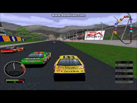 NASCAR Road Racing PC Gameplay (Johnny Benson) (Bridgeport Speedway) (5 Laps)