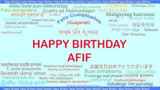Afif   Languages Idiomas - Happy Birthday