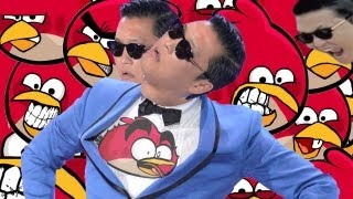 oppa angry birds trailer gangnam style dancing parody