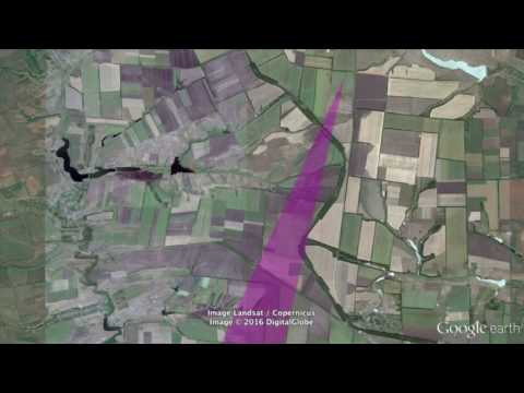 Putins Undeclared War Summer 2014 - Crater Field and Launch Site Matching
