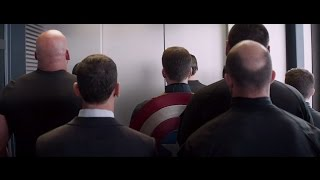 Repeat youtube video Captain America 2 - Elevator scene ( HD )