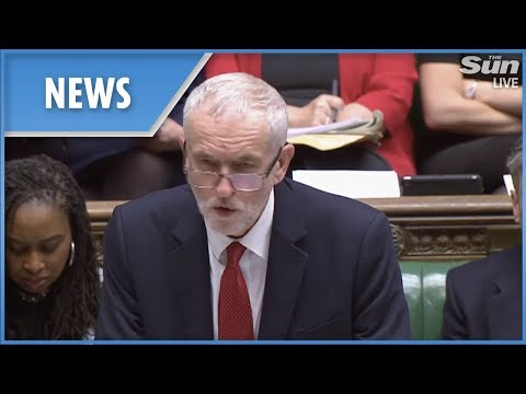 Jeremy Corbyn takes on Theresa May ahead of tonight's amendment vote (FULL)