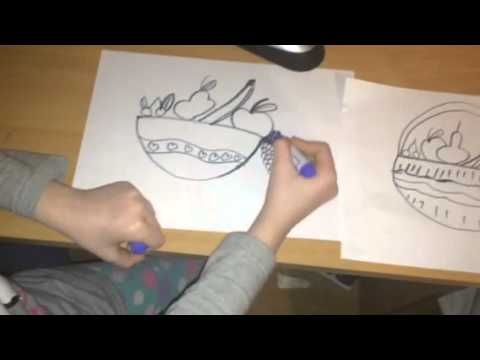 how to draw a fruit basket youtube