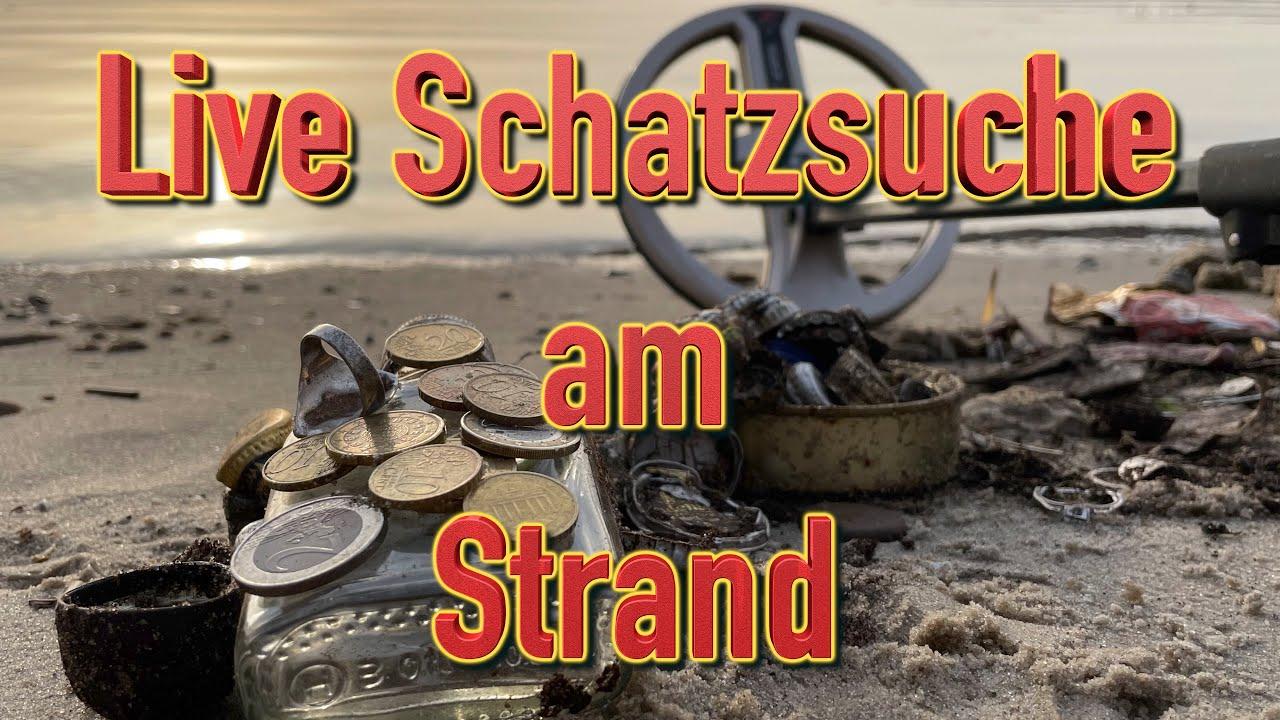 Schatzsuche Live am Strand (Sondeln mit Metalldetektor)
