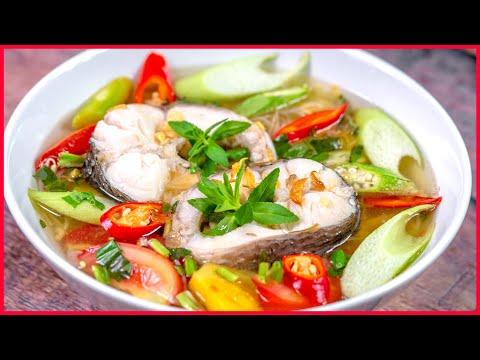 Bí Quyết Nấu CANH CHUA Cá Ngon Gia Truyền Nhà Cô Ba   Sweet And Sour Fish Soup Recipes