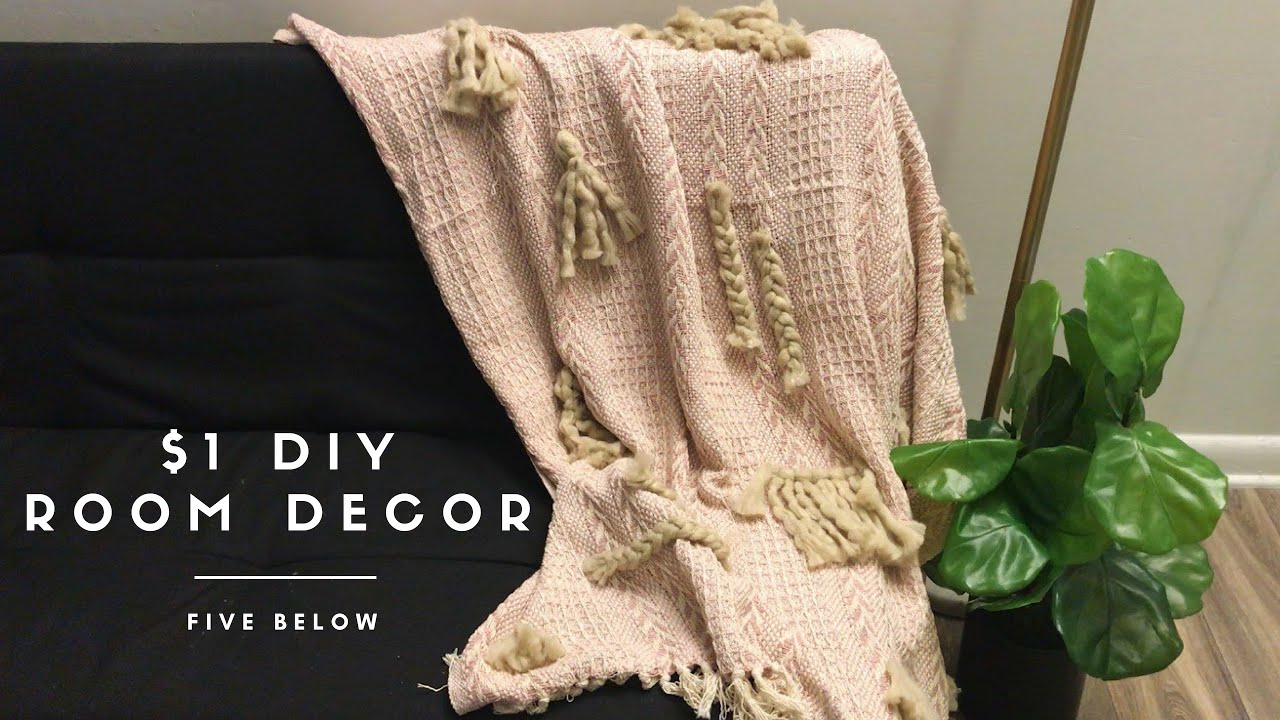 $1 DIY Room Decor From Five Below // DIY Anthropologie Throw // DIY VDay Gifts // GIVEAWAY