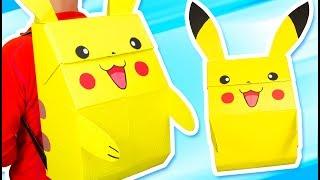 DIY Pikachu Backpack - Pokémon Costume | Craft Ideas for Kids on Box Yourself