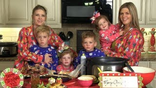 Crockin' Girls Christmas Family Breakfast - Monkey Bread And Egg Casserole
