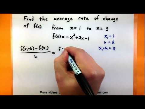 Calculus - Find The Average Rate Of Change Of A Function Between Two Points