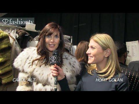 Dennis Basso Fall 2013 BACKSTAGE ft. Carol Alt   New York Fashion Week NYFW   FashionTV