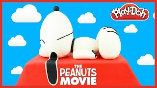 Snoopy made from FOUR PLAY-DOH SURPRISE EGGS! The Peanuts Movie!
