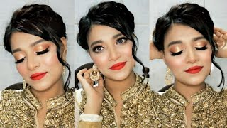 PARTY MAKEUP tutorial step by step for beginners in urdu/hindi | Golden Glam