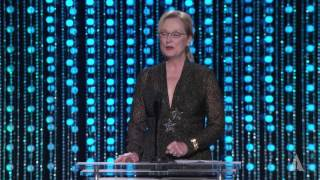 Meryl Streep honors Debbie Reynolds at the 2015 Governors Awards