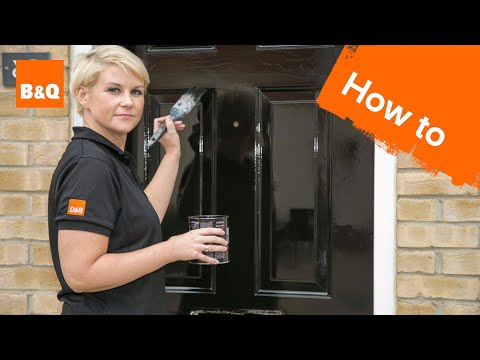 online retailer 46e5e 51c24 How to paint an external door - YouTube