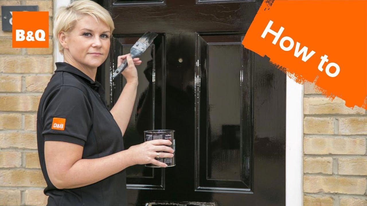 how to paint an external door youtube. Black Bedroom Furniture Sets. Home Design Ideas