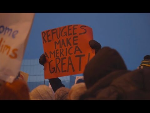Anchorage Protest of Trump Immigration Order