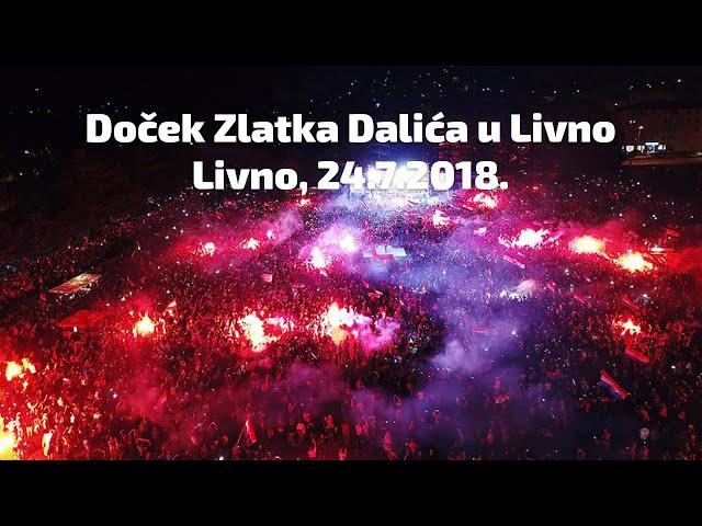 HRT: Doček za izbornika Dalića u rodnom Livnu