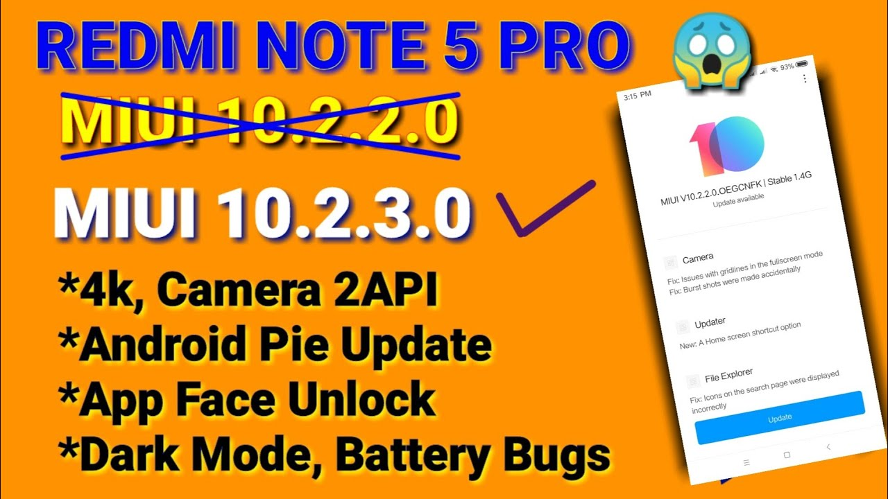 Redmi note 5 Pro Miui 10 2 3 0 New Update | Android Pie 9