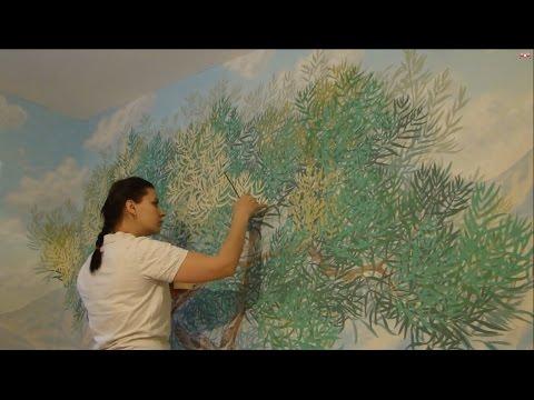 Мастер класс Барельеф дерева/ роспись стен  Необычный декор стен своими руками