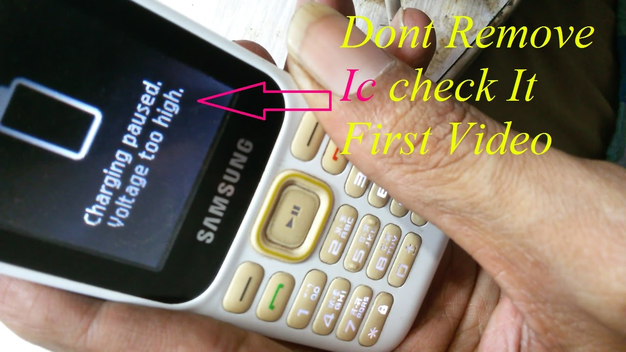 Samsung B310e Charging Solution Paused Voltage Too High B310 Repair Problem
