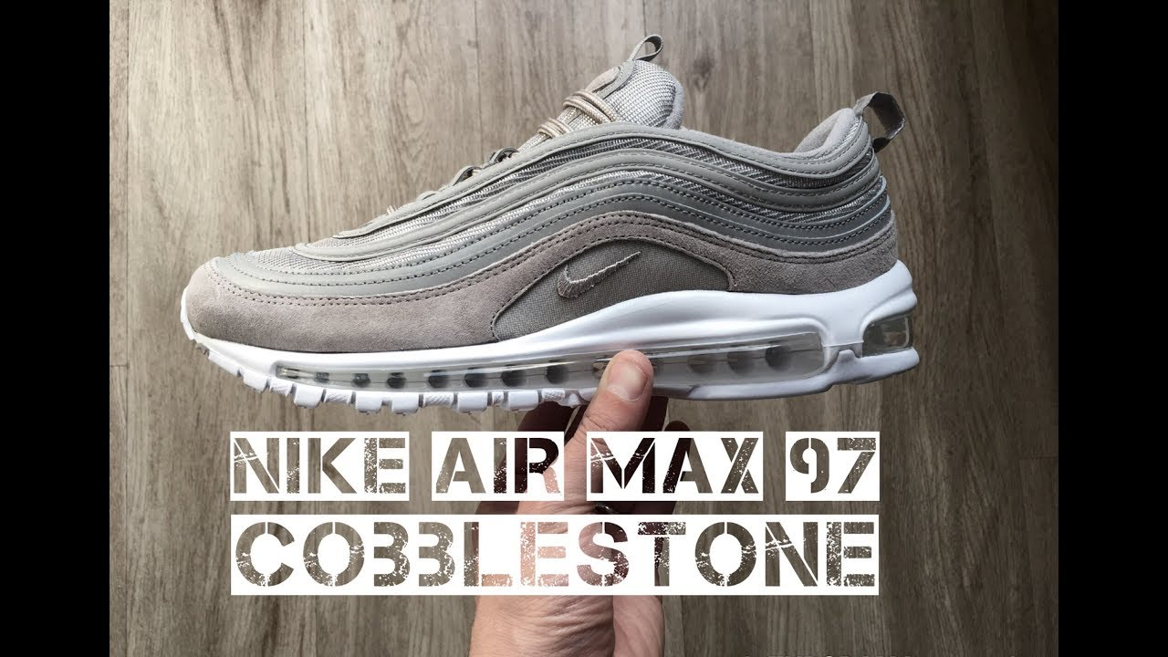 separation shoes e1df8 88eda Nike Air Max 97 'Cobblestone/ Cobblestone-white' | UNBOXING & ON FEET |  fashion shoes | 2017 | HD