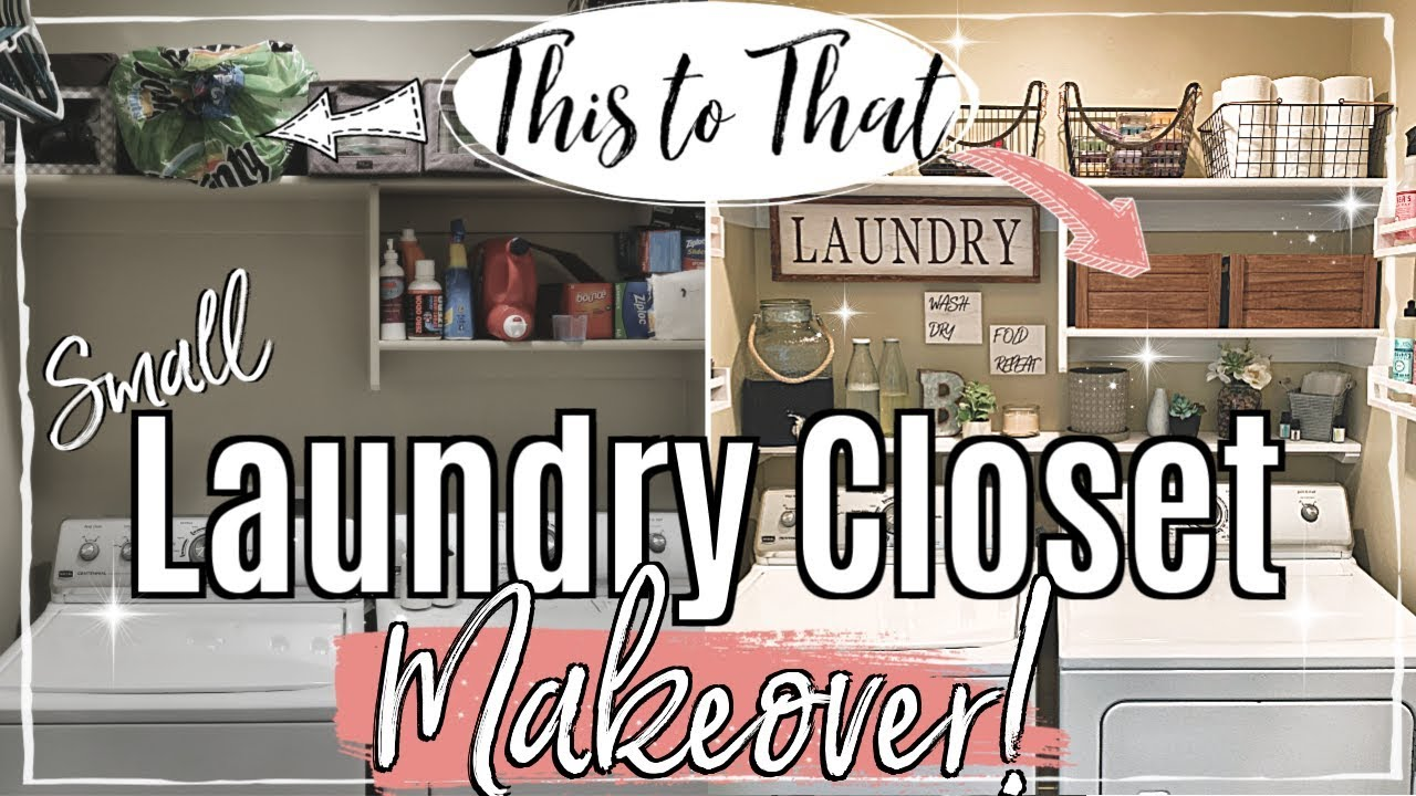 Small Laundry Room Makeover Clean Organize With Me 2019 Cheap Laundry Organization Ideas Youtube