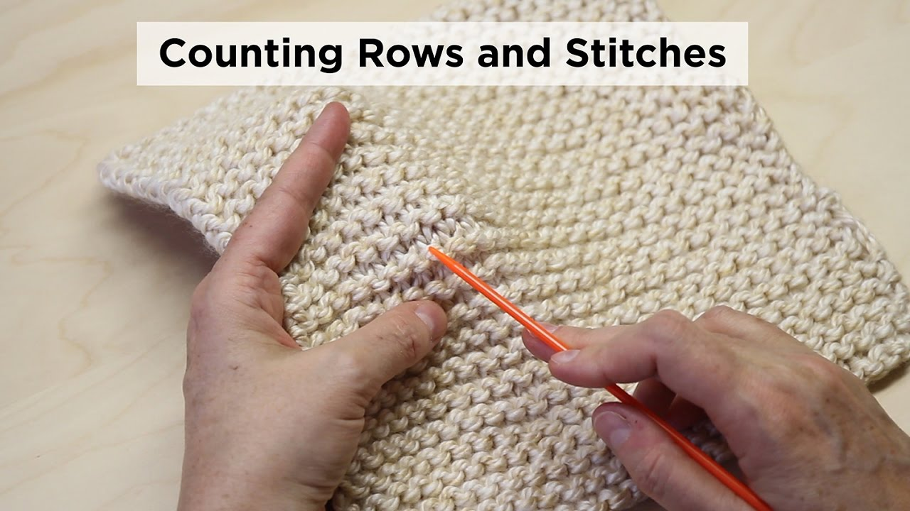 How To Count Garter Stitch Rows And Stitches Youtube